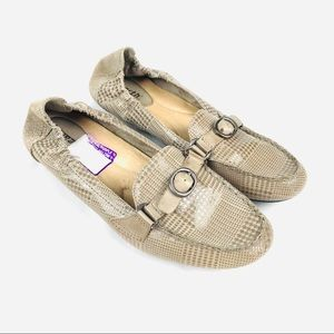 LIKE NEW! Earth leather comfort flats scout taupe